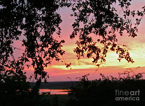 Sunset over Canyon Lake by Randi Shenkman