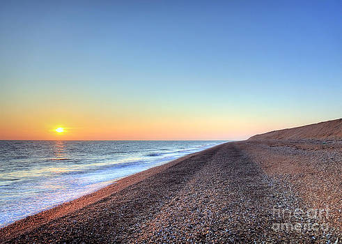 Sunset over Dungeness Kent England by Lee-Anne Rafferty-Evans