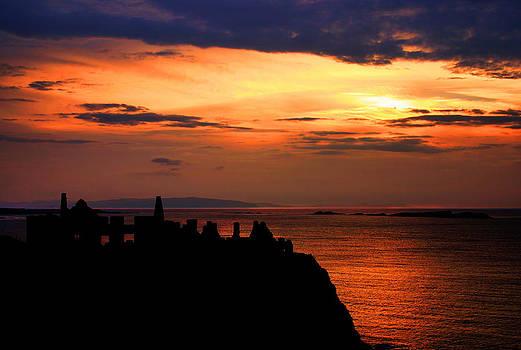 Sunset over Dunluce Castle by David McFarland