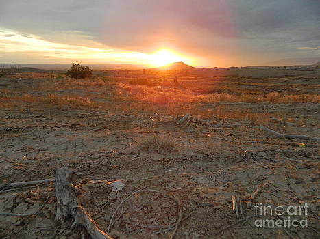 Sunset Over Flat-Top Hill by Sara  Mayer