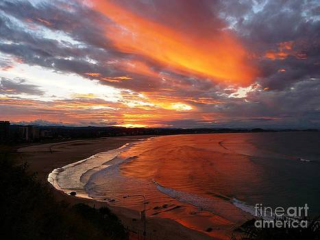 Sunset over Gold Coast by Nadine Kelly