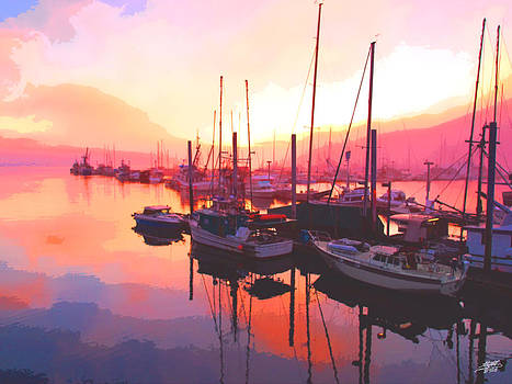 Steve Huang - Sunset Over Harbor