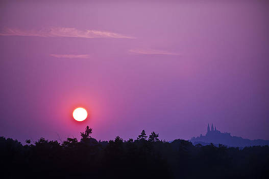 Sunset over Holy Hill 3 by Jennifer Brindley