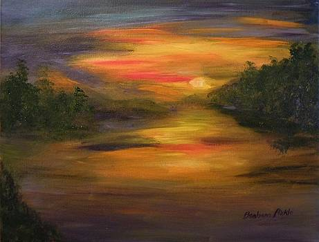 Sunset over Lake Chatuge by Barbara Pirkle
