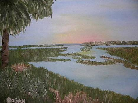 Sunset Over Marsh by Hogan Willis