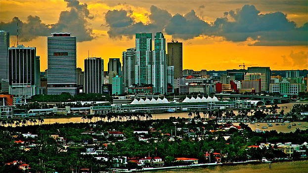 sunset over Miami 450 by Ronald  Bell