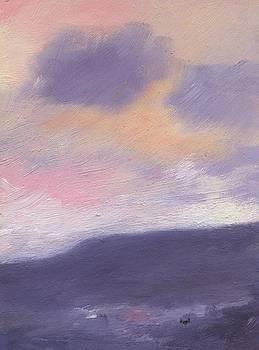 Sunset over St Boniface Down by Alan Daysh