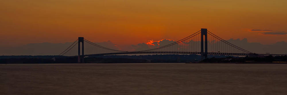Dave Hahn - Sunset over Staten Island - Pano