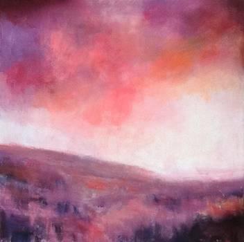 Sunset over Stenbury Down by Alan Daysh