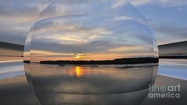 Sunset over the Danube by Evmeniya Stankova
