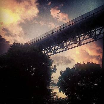 Sunset Over The Walkway by Tina Marie