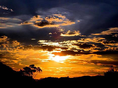 Sunset Over Topanga by Catherine Natalia  Roche