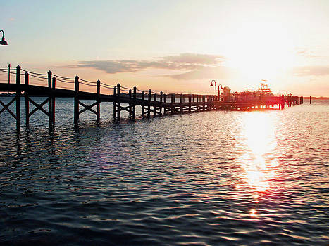 Sunset Pier at Saint Andrews by Brandy Nicole Neal