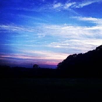#sunset #purple #blueskies #clouds by Laura Vaillancourt