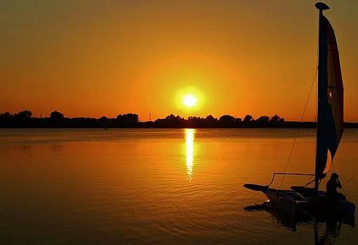 Sunset Sail by Alexander Spahn