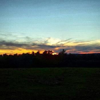 #sunset #sunshine #blueskies #goodnight by Laura Vaillancourt