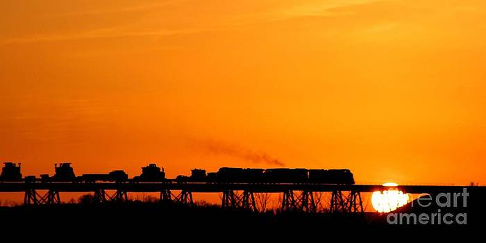 Sunset Train by Becky Dolley