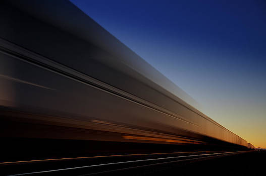Sunset Train by Colin Sands