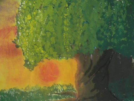 Sunset Tree by Mahalaleel Muhammed-Clinton