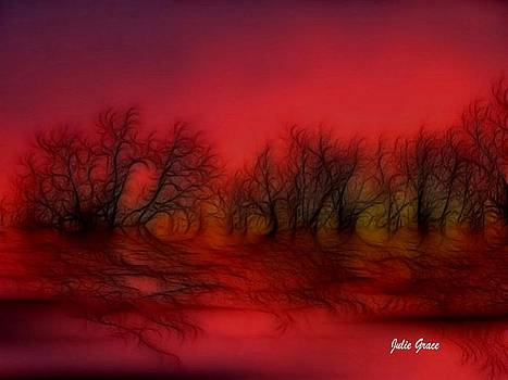 Sunset Trees by Julie Grace