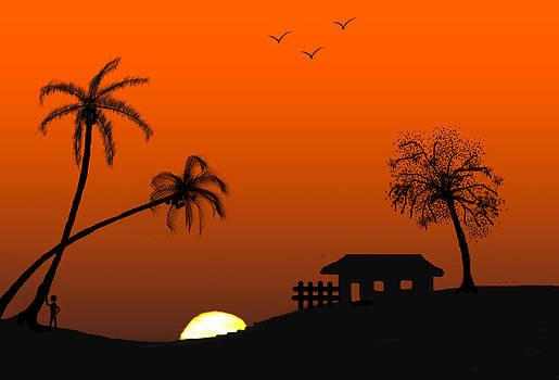 Sunset by Vijayendra Bapte