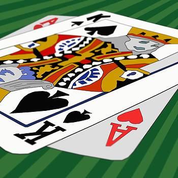 Super hand at Blackjack by Casino Artist