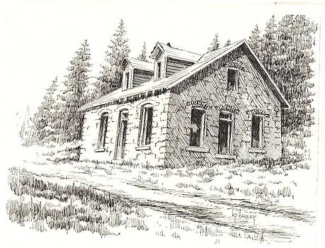 Superintendents House Granite Ghost Town Montana by Kevin Heaney