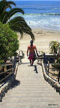 Surfing in Laguna Beach by SM Shahrokni