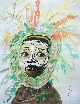 Surma Tribe IIII. by Paula Steffensen
