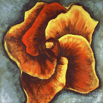 Decorative Surrealist Hibiscus Flower for Unique Home Decor by Marie Christine Belkadi