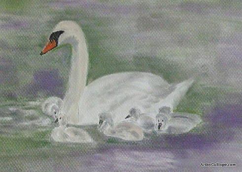 Swan Family by Calliope Thomas