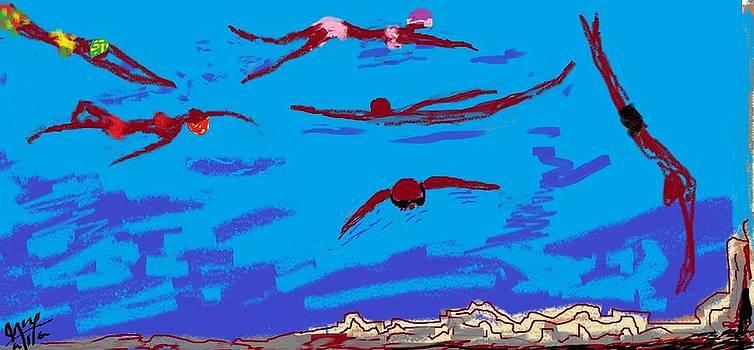 Swimers by Asaye Nigussie