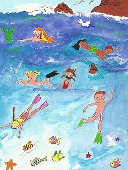 Swimming at Hanauma Bay by Maureen Nyhan