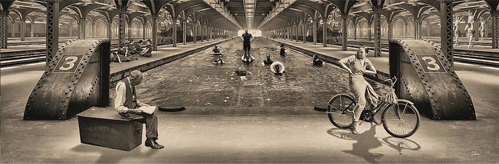 Swimming at the Station by Glen Klein