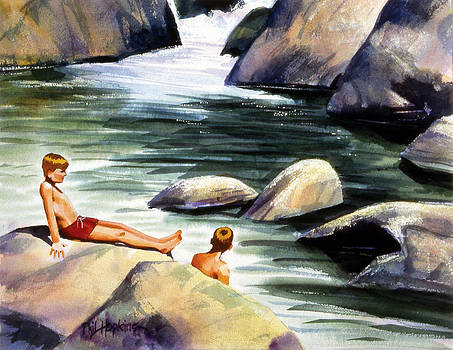 Swimming Hole by Phil Hopkins
