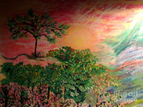Symphony Of Rainbow Tree by Catherine Herbert