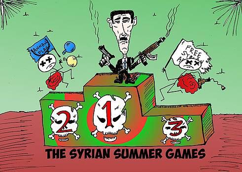 Syrian Summer Games cartoon by Yasha Harari