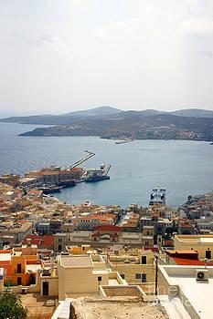 Syros Island Overlook by Maria Varnalis