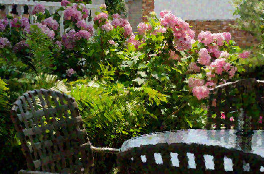 Table and flowers by Cheryl Cencich