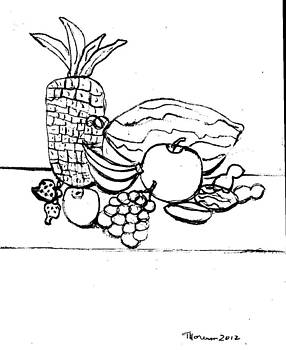 Table Fruit drawing by Thelma Harcum