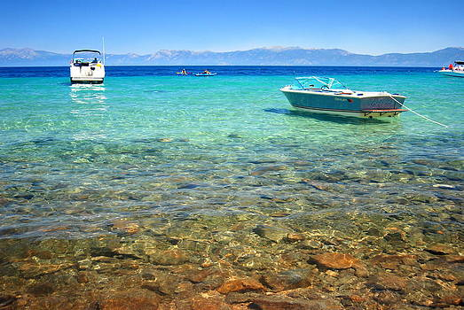 Tahoe Blues and Boats by Vicki Coover