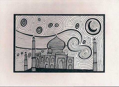 Taj Mahal and Starry Night by Raiyan Talkhani