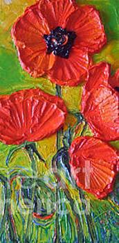 Tall Red Poppies II by Paris Wyatt Llanso