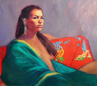 Tamara in the Green Kimono by Roz McQuillan