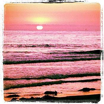 #tangerinesky #beachsunset by Lauren Laddusaw