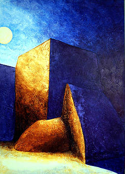 Taos Moon II by Ed Wyatt