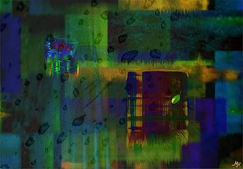 Tartans In The Rain by Mathilde Vhargon