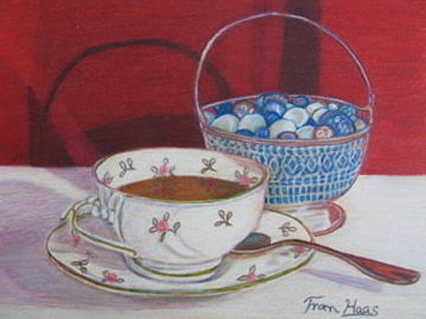 Tea and Glass reflections by Fran Haas