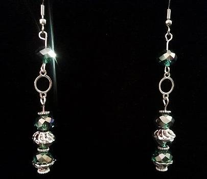 Teal Earrings by Tashamee Dorsey