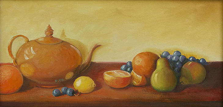 Diana Cox - Teapot and Fruit